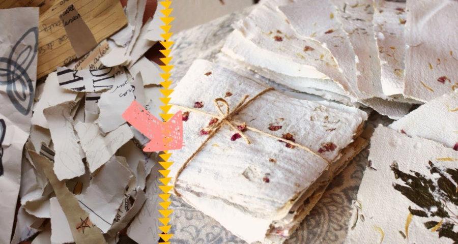 Como reciclar papel en casa .jpg